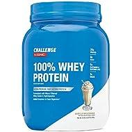 CHALLENGE By GNC 100% Whey Protein, Vanilla Milkshake, 2.07 Pound