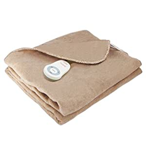 Amazon Com Sunbeam Dynasty Cuddle Up Fleece Heated Throw