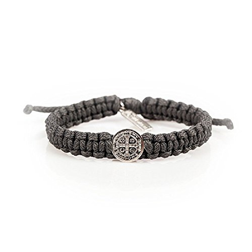 Men's St. Benedict Blessing Bracelet. Slate One Blessing – One Love – One World. Hand Made with Love in Medjugorje, Give the Gift of a Blessing and Pr…