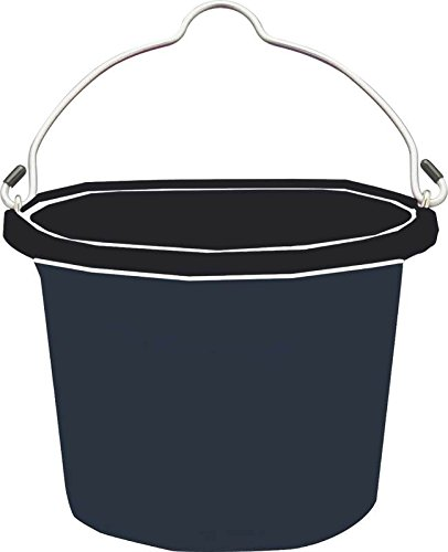 Fortiflex-Flat-Back-Feed-Bucket-for-DogsCats-and-Small-Animals-8-Quart-Black