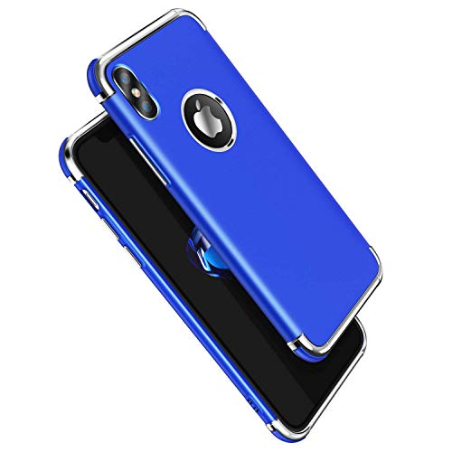 iPhone Xs Max Case, Meifigno 3 in 1 Hybrid Stylish Case,[100% Compatible with Wireless Charging], Urtal Silm Soft TPU & Hard PC Frames Compatible for Apple iPhone 6.5