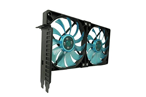 Gelid SL-PCI-02 Accessories PCI Slot Fan Holder * 2 x Slim 12 UV Blue Fan