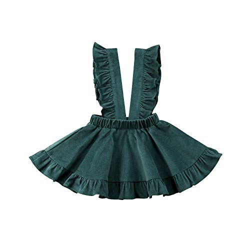juan 9 Skirts Newborn Toddler Baby Kids Girl Strap Princess Skirt Suspender Overalls Outfit Clothest,Army ()