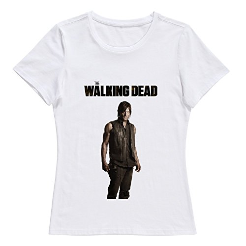 Women's Walking Dead Logo Season 6 Custom T-Shirt White Size L By Xuruw]()