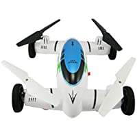 Owill HW7007 2.4G 6-Axis Plane Land Remote Control Car Quadcopter Drone Helicopter/Give Your Vision Irritation (White)