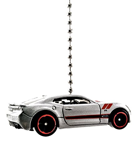 Price comparison product image Chevy Camaro Diecast Ceiling Light Fan Pull & Ornament 1 / 64 scale (2016 Camaro SS Silver)