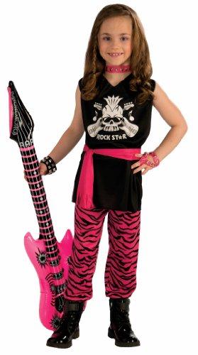Girl Rock Star Costumes (Forum Novelties Rock Star Girl Child Costume, Large)