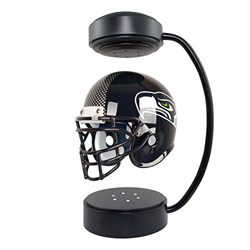 NFL Hover Helmet - Collectible Levitating Football Helmet with Electromagnetic Stand, Seattle Seahawks (Helmet Seattle Seahawks)