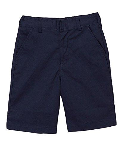 UNIK Boy's Uniform Shorts with Adjustable Waist, SBU31 Navy 8 (Navy Khaki Us Uniforms)