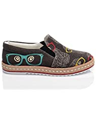 Streetfly Fashion Sneakers Unisex - Breathable Canvas Slip On Shoes