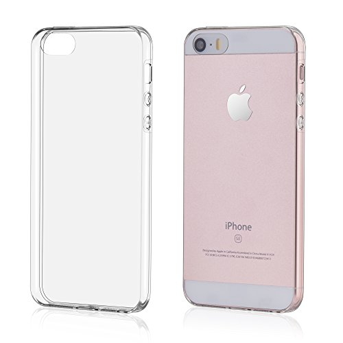 Oats Coque pour Apple iPhone SE Etui Crystal Clear Case Silicone