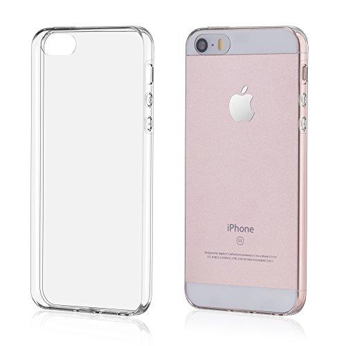 OKCS® TPU Hülle Case Schutzhülle für Apple iPhone 5 / 5s inklusive Wunderglass Panzerglas Screenprotector Schutzfolie Displayschutz Glasprotector