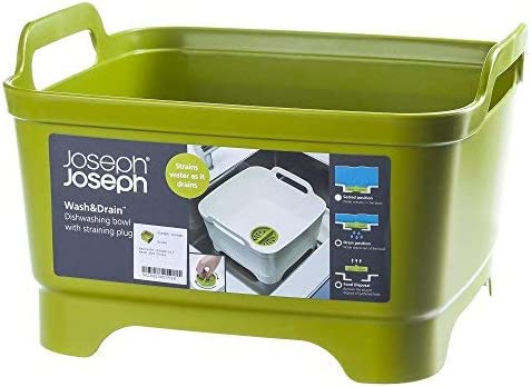 Joseph Joseph Wash & Drain Washing Up Bowl - Lime Green