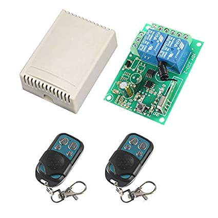 MELIFE DC 12V Secure Wireless Remote Control Switch Relay 2