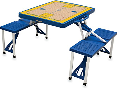 Detroit Pistons Table - NBA Detroit Pistons Basketball Court Design Portable Folding Table/Seats