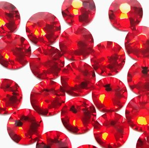 NEW ThreadNanny CZECH Quality 10gross (1440pcs) HotFix Rhinestones Crystals - 5mm/20ss, RED Color