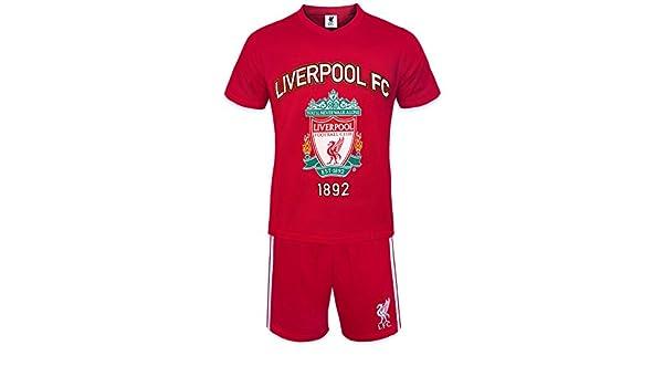 Liverpool FC - Pijama corto para hombre - Producto oficial: Amazon.es: Ropa y accesorios