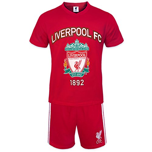 18acd49ef Liverpool FC Official Soccer Gift Mens Loungewear Short Pajamas Red ...