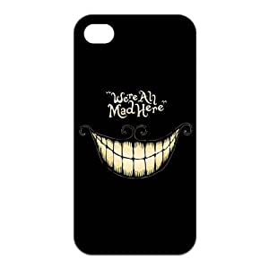 iPhone 4/4S Case, Cheshire Cat Hard TPU Rubber Snap-on Case for iPhone 4 / 4S