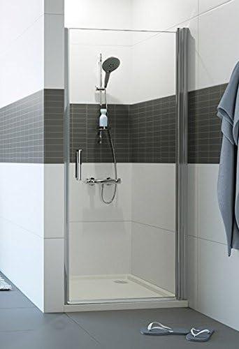 Mampara de ducha Classics 2 A puerta battante en nicho: Reversible, Cristal Transparente, 6 mm, perfil plata: Amazon.es: Bricolaje y herramientas