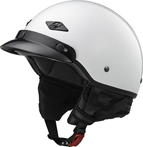 LS2 Helmets Unisex-Adult Half-Size-Helmet-Style Bagger Helmet (Pearl White, Medium) (Half White Helmet)