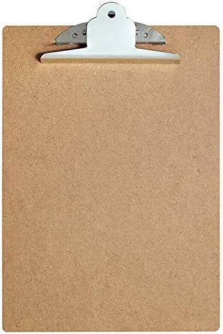ZBling A4 Letter Size Clipboard Kwaliteit Memo File Clip Board Professionele Klemborden Duurzaam Houten Clip Hardboard Met Hangend Gat Voor Kantoor Werk Klaslokaal Business Restaurant