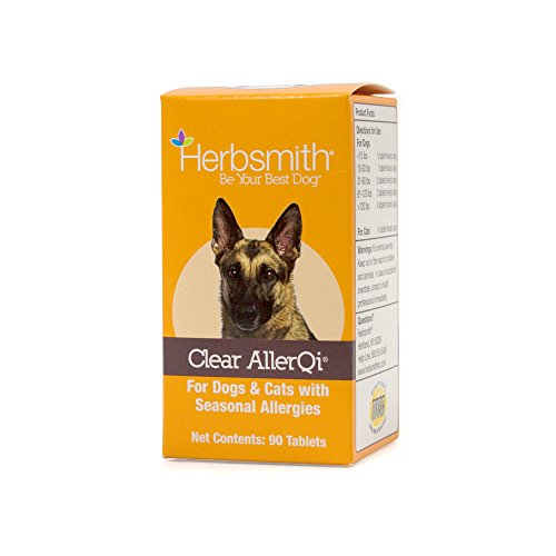 Herbsmith Clear Allerqi - Allergy Aid for Cats & Dogs - Pet Allergy Support - Anti Itch Pills for Dogs & Cats