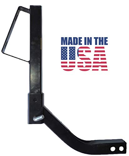 (Polaris Ranger Quick Adjust Receiver Hitch Spare Tire Carrier steel powder coated made in USA)