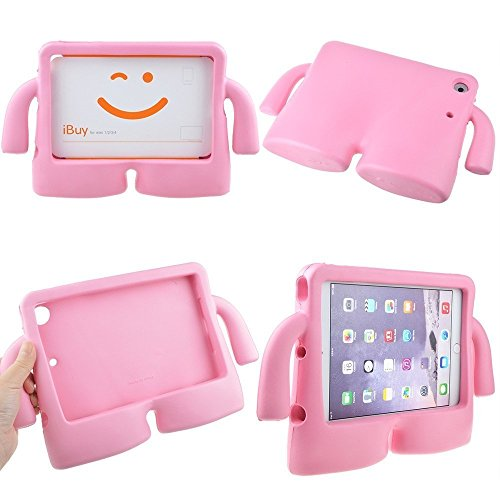 Lioeo iPad Mini Case for Kids Freestanding with Handle Lightweight EVA Foam Case for Apple iPad Mini 4 3 2 1 7.9 inch (Pink) by Lioeo (Image #5)