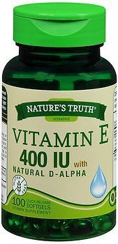 - Nature's Truth Vitamin E 400 IU with Natural D-Alpha Quick Release Softgels - 100 ct by Nature's Truth