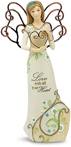 Angel Paisley (Perfectly Paisley Love Angel Figurine by Pavilion, 6-Inch Tall, Inscription Love with All Your Heart)