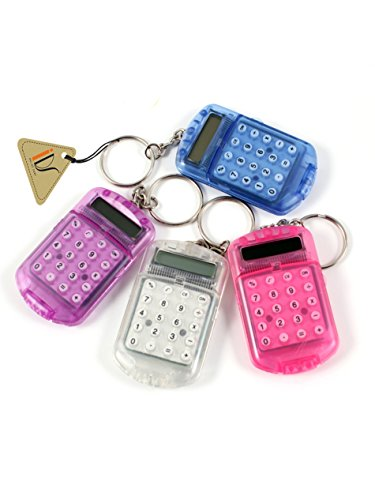 IDS Home Pocket Plastic 8 Digits LCD Display Mini Calculator with Keyring ()