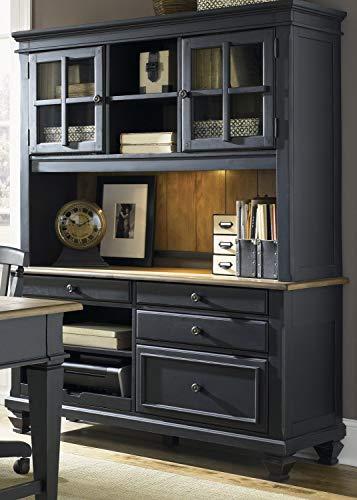 Liberty Furniture INDUSTRIES 641-HO120 Bungalow II Jr Executive Credenza, Driftwood & Black Finish