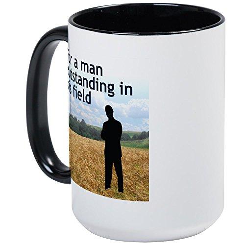 CafePress - Man Outstanding In His Field Large Mug - Coffee Mug, Large 15 oz. White Coffee (Field Mug)