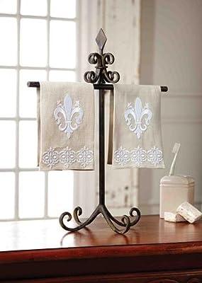 Amazoncom Fleur De Lis Towel Holder By Mud Pie Home Kitchen