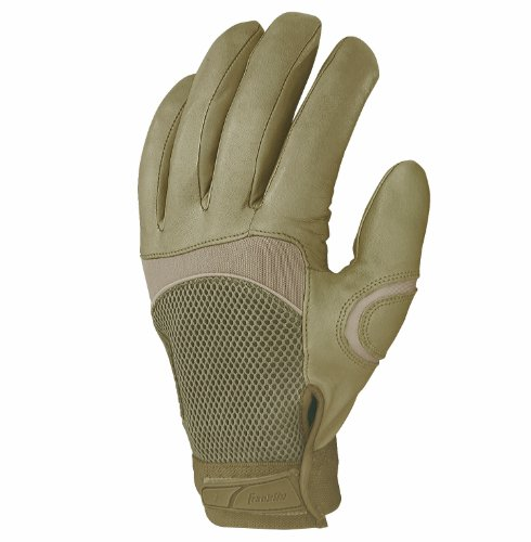 Franklin Sports Cut and Chemical Resistant Tactical Gloves, Tan, Small