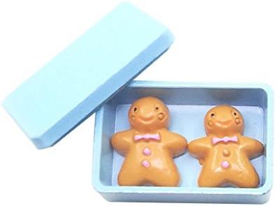 Amazon.es: Escala 1/12 Galletas con Caja de Almacenaje en Miniaturas Accesorio Decorativo de Dollhouse - Azul: Juguetes y juegos