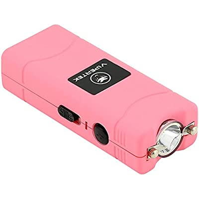 VIPERTEK VTS-881 - 7 Billion Micro Stun Gun - Rechargeable with LED Flashlight, Pink