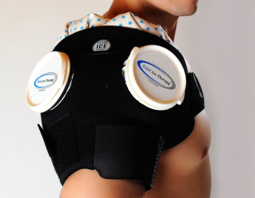 Total Ice Therapy Double Shoulder Ice Wrap - - Ice Therapy Total