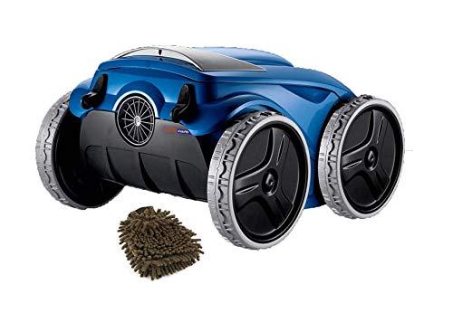 (Polaris F9450 Sport Robotic in-Ground Pool Cleaner, 4-Wheel Drive Vacuum (Complete Set) w/Bonus: Premium Microfiber Cleaner Bundle)