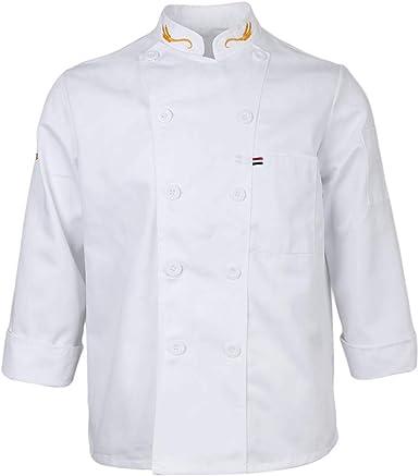 IPOTCH Chaqueta de Poli-algodón Camisa Clásica de Chef ...