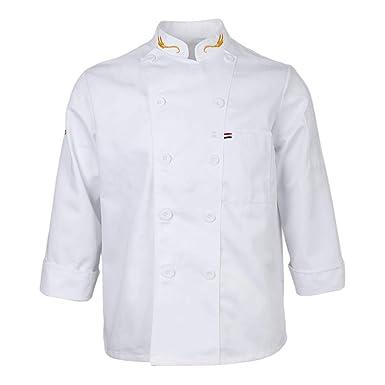 P Prettyia Chaqueta de Chef Unisex Traje de Camarero para ...