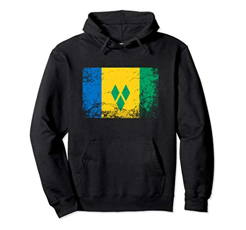 Saint Vincent and the Grenadines National flag vintage gift  Pullover Hoodie