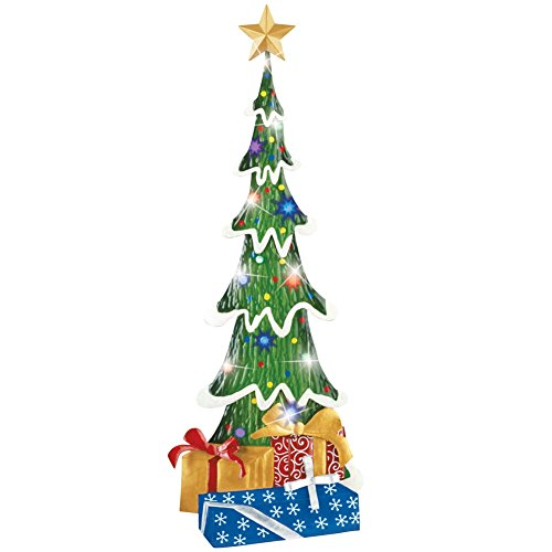 Outdoor christmas stake decoration multicolor xmas lighted for Outdoor christmas wall decorations