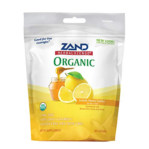 HerbaLozenge Organic Lemon Honey Soother 80ct ()