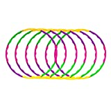 Enchanted Mango Snap Together Detachable Kids Hula Hoop for Playing, 32-Inch (Pack of 6)