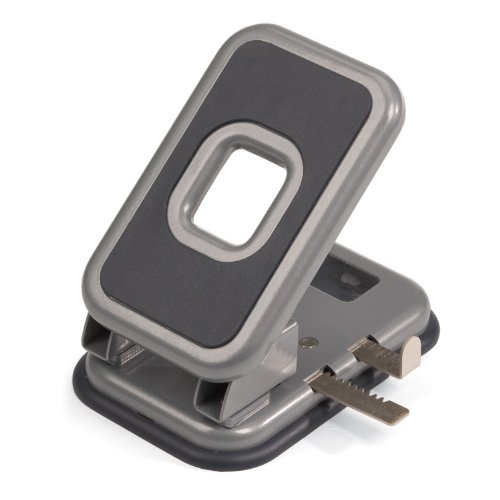 (Officemate Auto-Centering 2 Hole Punch, 40 Sheet Capacity, Silver and Charcoal (90122))