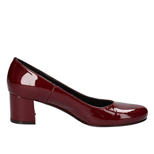 Calpierre - Zapatos de vestir de charol para mujer burdeos