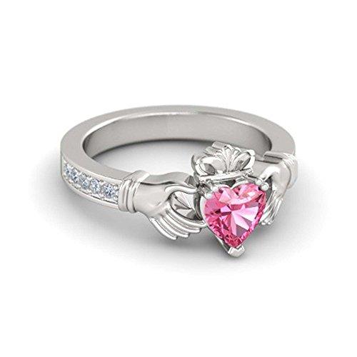 sapphire claddagh ring - 6