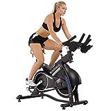 Sunny Health & Fitness Bicicleta de Ciclo Asuna Minotaur - Bicicleta Comercial de Ciclismo de Interior de Correa Magnética con Gran Capacidad de Peso